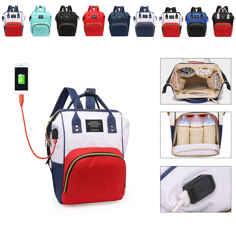 Women External USB Charge Backpack Oxford Male Mochila Escolar Girls Laptop Backpack School Bags Backpack For Teens Anti Thief