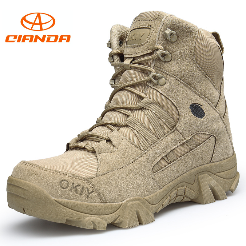 New Winter Climbing Hiking Shoes Professional Army Waterproof Tactical Boots Breathable Outdoor Military Mountain Sneakers Men 2017 new military men s outdoor breathable hiking tactical boots men army combat trekking climbing shoes mountaineering boots