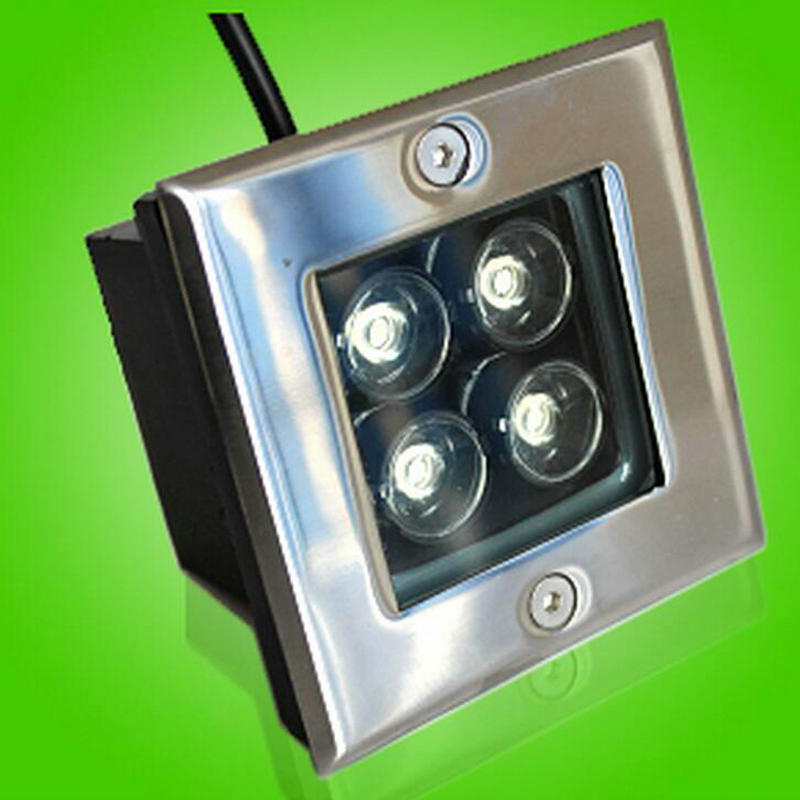 Alert 4w Led Buried Lights Skirting The Footlights Stair Lights Square Buried Lamps Ip68 Outdoor Led Step Lights Shrink-Proof Lights & Lighting Led Lamps