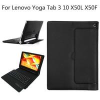 For Lenovo Yoga Tab 3 10 0 X50L X50F Magnetically Detachable ABS Bluetooth Keyboard Portfolio Folio