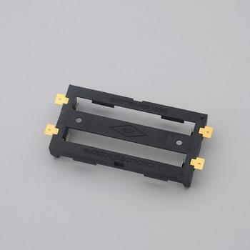 400pcs/lot MasterFire 2 x 18650 battery holder smd smt Batteries case Storage Box With Bronze Pins 2 slot 2*18650 Battery Shell
