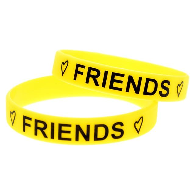 379317d7ae44d US $2.48 25% OFF|Aliexpress.com : Buy OneBandaHouse 1PC Printed Bracelet  Best Friends Forever Silicone Wristband from Reliable wristband bracelet ...