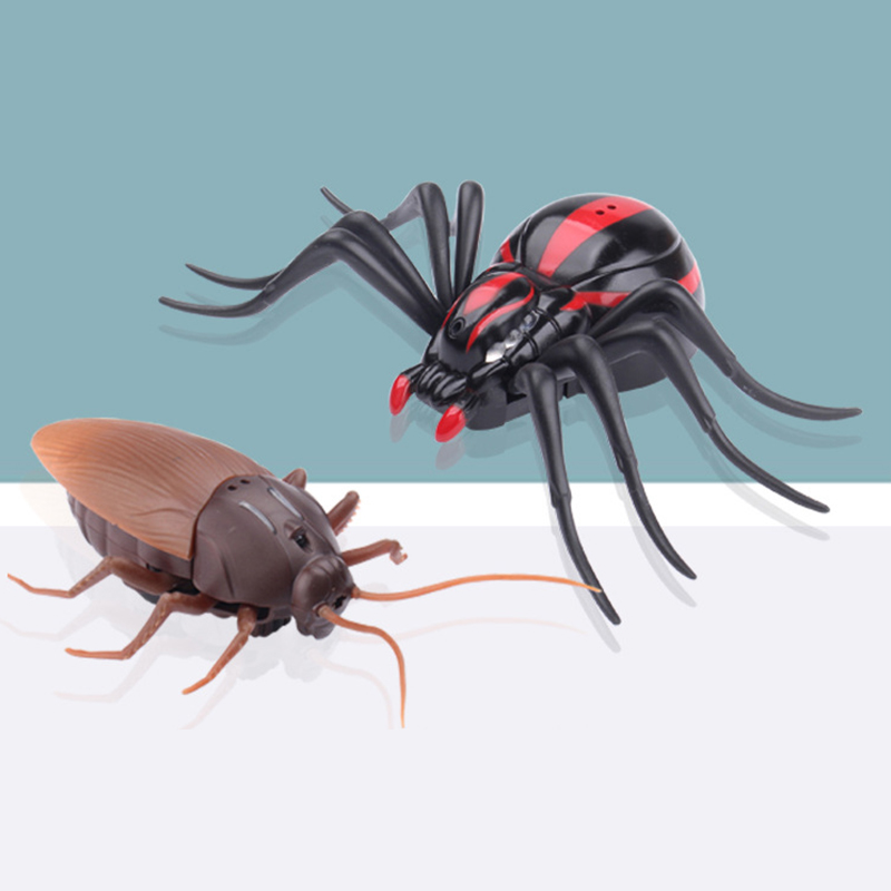 Exotic Ants Cockroaches Spiders Infrared Remote Control Toys Prank Scary Insect