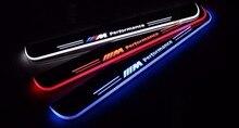 Qirun акриловые moving Дверь scuff Добро пожаловать свет Путь лампы порога накладок пластины для BMW E39 4 шт. спереди и сзади