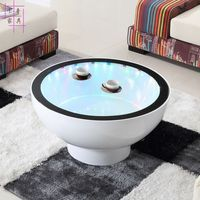 Heightening as few. Creative tea table. Toughened glass. Furniture lamp round table