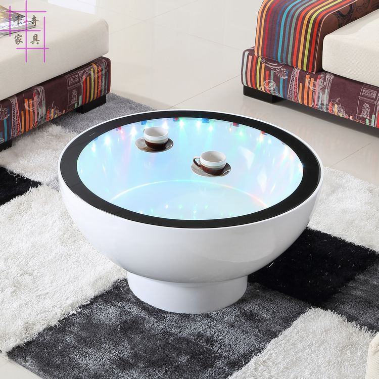 Heightening as few. Creative tea table. Toughened glass. Furniture lamp round table toughened glass small tea table phone sofa the round table
