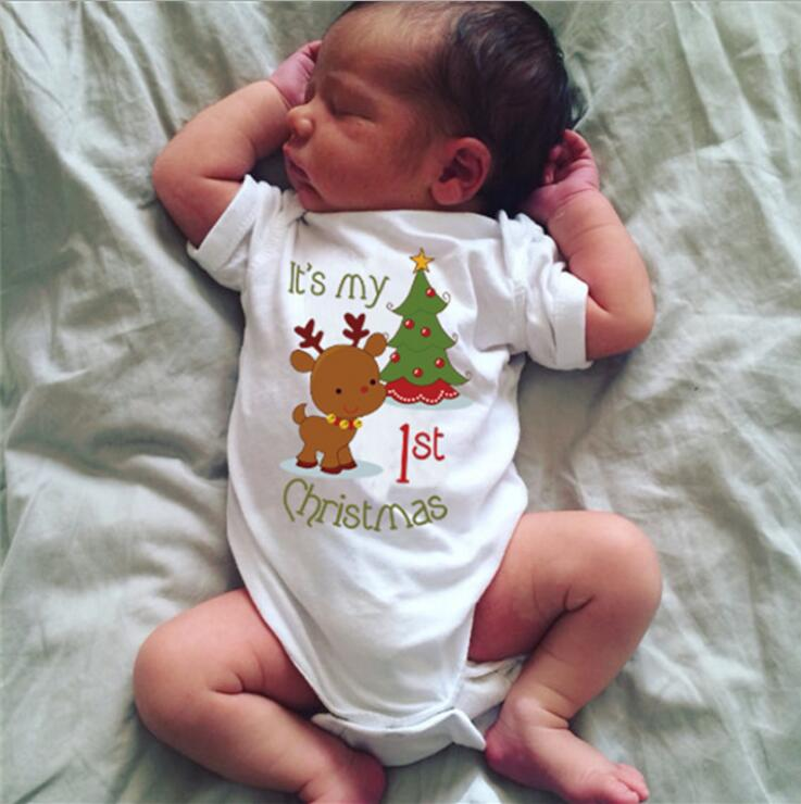 Cute My First Christmas Girl Boy Newborn Baby Clothing Set Outfit Clothes It's My 1st Christmas Newborn Outfit Clothes