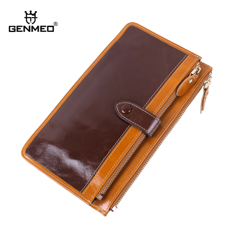 MAIFEINI New Stylish Cow Leather Wallets Women Genuine Leather Wallet Ladies Card Holder Coin Purse Clutch Money Bag Handbag dudini new arrived flowers printing women wallet fashion hit color clutch purse ladies coin and money card holder wallets bag
