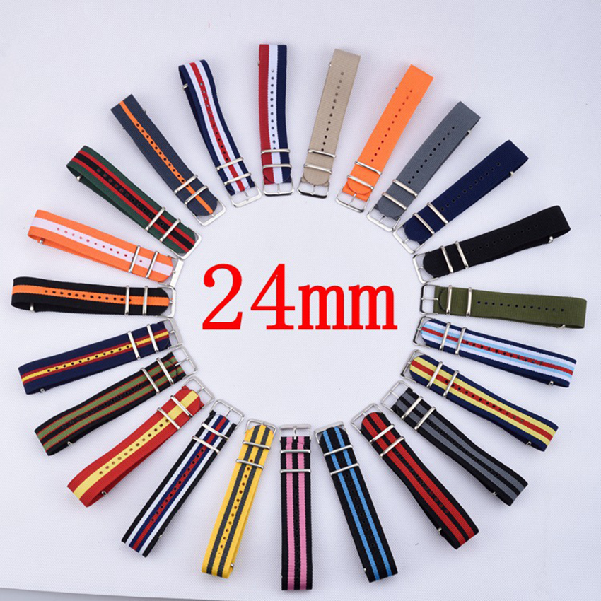 Strap For Hours 1PCS Nato Strap 24mm Nylon Watch Band Waterproof Watch Strap - 23 Colors In Stock pilotage leopard ii a6 nato 3 1 24 27mhz rc8129
