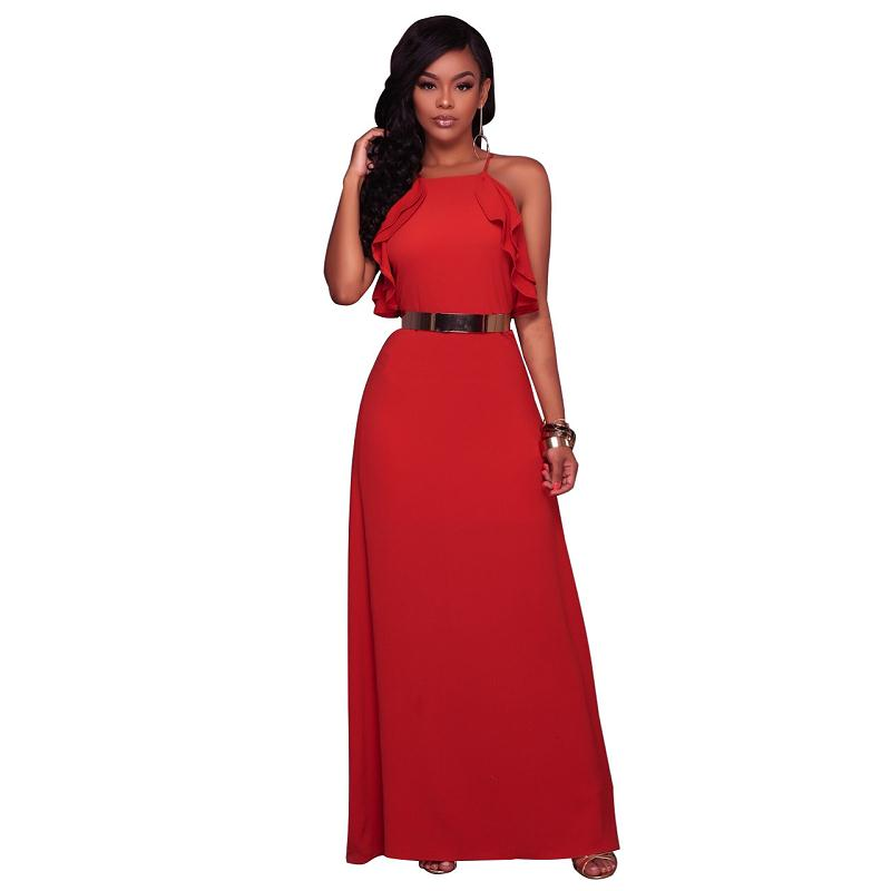a665f165d59955 Sexy Elegante backless satin lange Vrouwen jurk zomerjurk Party sexy geel  rood maxi jurken vestidos in Sexy Elegante backless satin lange Vrouwen jurk  ...