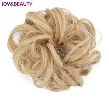 JOY&BEAUTY Synthetic Curler Wig Puff Bud Elastic Hairbands Hair Ties High Temperature Fiber 14Color Free Shipping(China)
