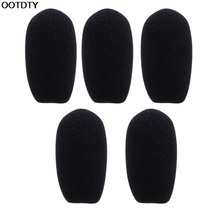 5PCS Black Microphone Headset Foam Sponge Windscreen Mic Cover – L060 New hot