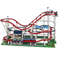 New 4619Pcs The roller coaster fit city legoing creator technic Buidling Block Bricks 10261 Kids diy Toys birthday Gift
