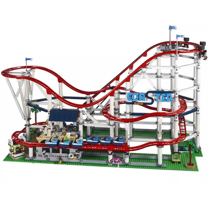 Nouveau 4619 pièces les montagnes russes fit ville legoing créateur technique Buidling bloc briques 10261 enfants bricolage jouets cadeau d'anniversaire