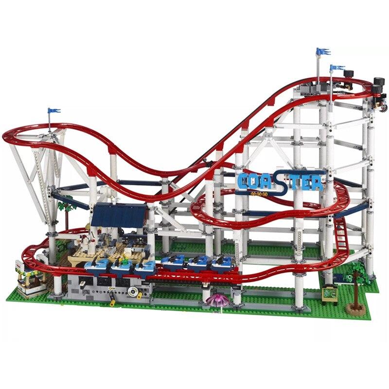 Nuevo 4619 piezas La montaña rusa se ajusta a la ciudad legoing creator technic Buidling bloque ladrillos 10261 niños diy juguetes regalo de cumpleaños
