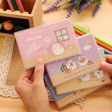 4pcs/lot 10.6*7.2cm Japan And South Korea Stationery Cute Fat Rabbit Small Plastic Clip Notebook Creative Book