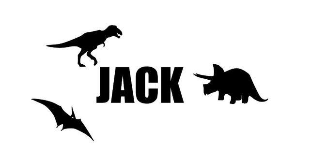 Gepersonaliseerde Naam Dinosaurus Muurstickers Jongen Slaapkamer ...