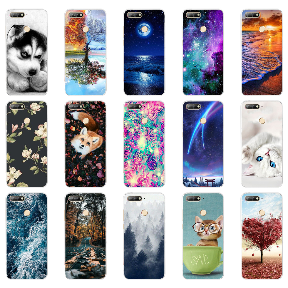 B For Huawei Honor 7C Case Cover 5.7