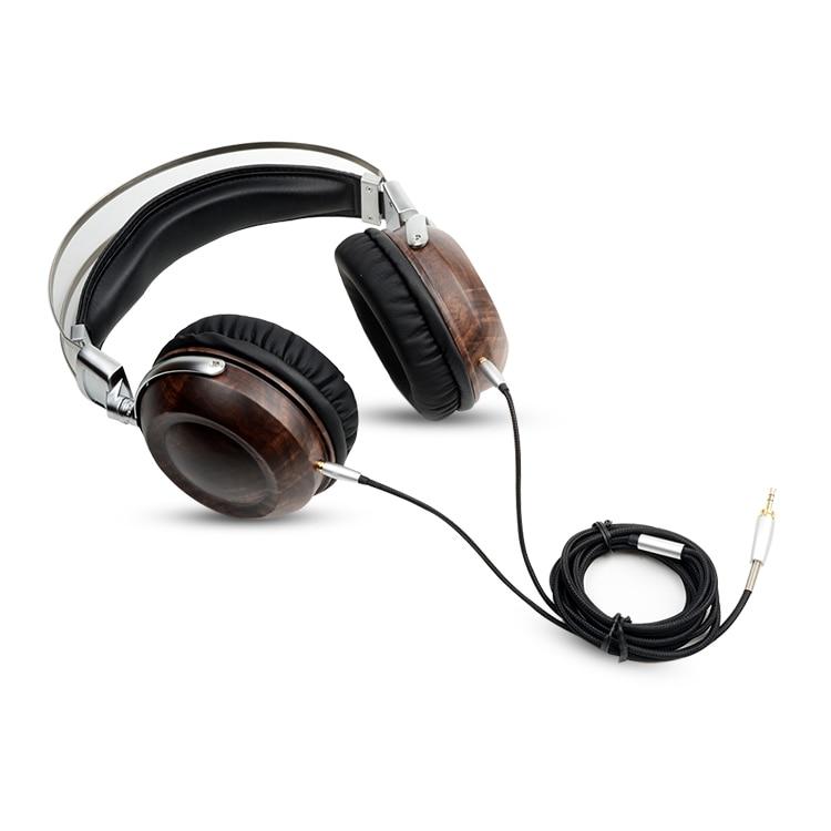 OKCSC DIY M2 HiFi Wooden Metal Headphone DJ Monitor Headset Earphone With Beryllium Alloy Driver And protein Leather Not