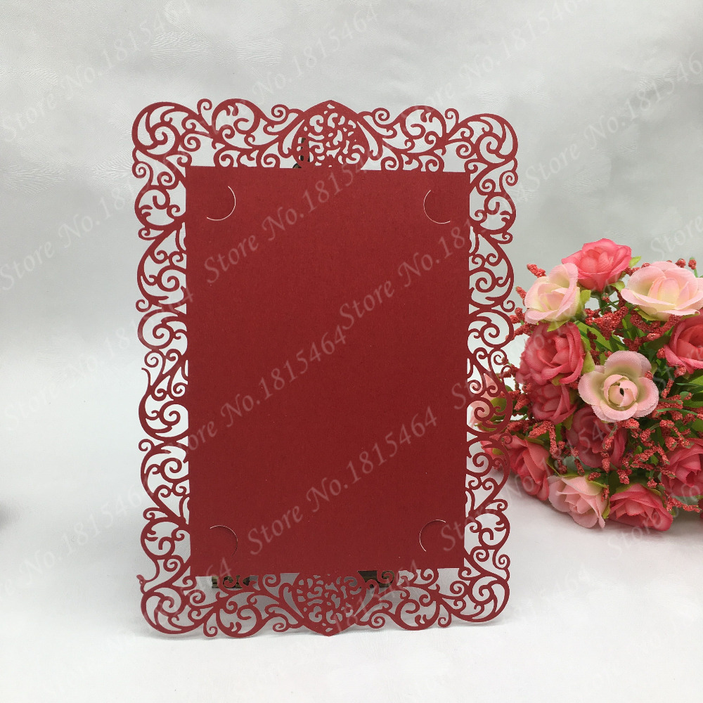 50pcs Laser Cut Meue Cards Restaurant Table Card,Valentine\'s Day ...