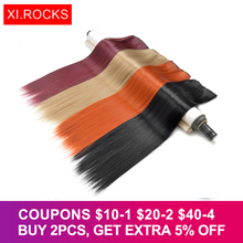 WJLZ5050 3packs Xi.Rocks Synthetic Woman's wig 20 Colors Straight False Clip In Hair Weave Female Extensions Blonde wigs