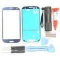 Новый Синий Передняя Внешний Объектива Стекло Крышки Экрана Замена Для Samsung Galaxy S3 SIII I9300 I747 Экрана Переднее Стекло Ремонт комплект