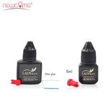 NEWCOME 1 Bottle All Eyelash Extension Glue Fast Drying False Eyelash Extension Glue Over 6 Weeks Professional Tools for Make Up 5ml eyelash extension glue obrm fast drying adhesive glue for lashes salon last over 6 weeks professional crafter lash glue