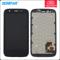 4 3 Black For Motorola MOTO G XT1032 XT1033 LCD Display Touch Screen Digitizer With Bezel