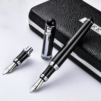 Germany Duke Pen Duke Duke D2 D2 Pure Black Gold Clip Iridium Fountain Pen Duke Fountain