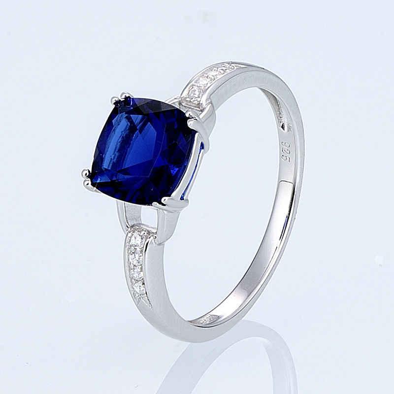 SANTUZZA เงินแหวนแหวนหมั้นแต่งงานแหวน Cubic Zirconia แหวนเงินแท้ 925 แฟชั่นเครื่องประดับ