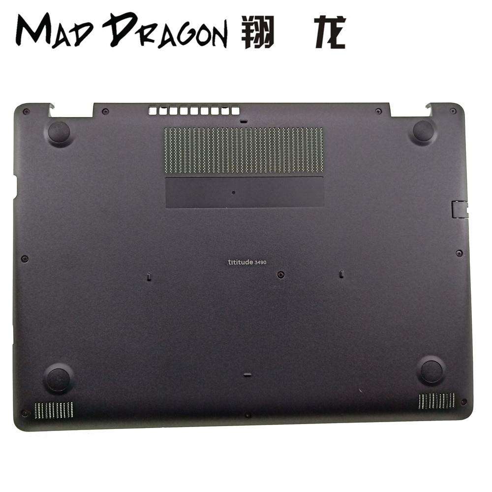 MAD DRAGON Brand Laptop new Bottom Base Bottom Cover Assembly for Dell Latitude 3490 E3490 Bottom