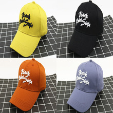 New Fashion Hat Childrens Embroidery BLACK Letters Curved Baseball Cap Korean Kids Boys Girls Summer Outdoor