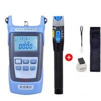 Handheld Optical Power Meter+ 1mw Fiber Optic Laser Visual Fault Locator,Red Laser Fiber Optic Cable Tester