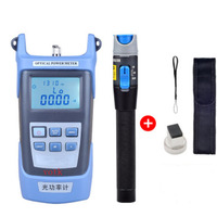 Handheld Optical Power Meter+ 1mw Fiber Optic Laser Visual Fault Locator,Red Laser Fiber Optic Cable Tester