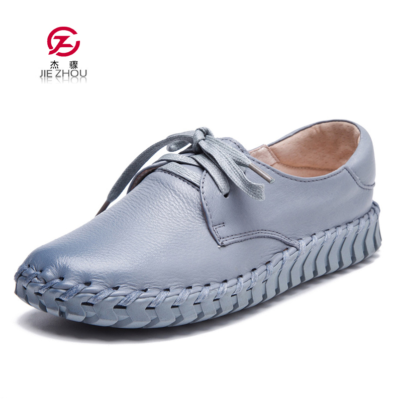 Plus Size shoe Loafers Women Shoes Casual Work Driving Shoes Women Flats Genuine Leather Flat