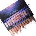 Nova marca Nu maquiagem paletas de sombra pincel de maquiagem 12 Cores em tons de terra da sombra de olho Esfumaçado cosméticos compo o jogo kit