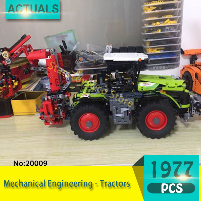 Lepin 20009 1977Pcs Technic series Mechanical Engineering - Tractors Model Building Blocks Set  Bricks Toys For Children Gift 2017 new lepin 20009 1977pcs technic claas xerion 5000 trac vc model building kits blocks bricks compatible toys gift with 42054