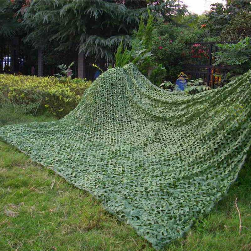 2M X 3M Pure Green Military Camouflage Net Woodlands Leaves Camo Cover Sports Tent Army Jungle Netting for Camping Hunting