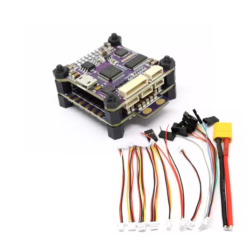 FLYCOLOR Raptor S-Tower ESC5V/12V 30A 4-in-1 ESC 2-4S Support Dshot600 +F3 Drone+OSD For RC Racing Toy Airplanes F19840 emax f4 magnum tower parts bullet 30a 4 in 1 blheli s esc 2 4s built in current sensor for rc multicopter models motor frame