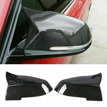 ABS Material LH + RH Carbon Fiber Style Car Side Mirror Cap Cover For BMW M3 F20 F30 F34 F36(China)