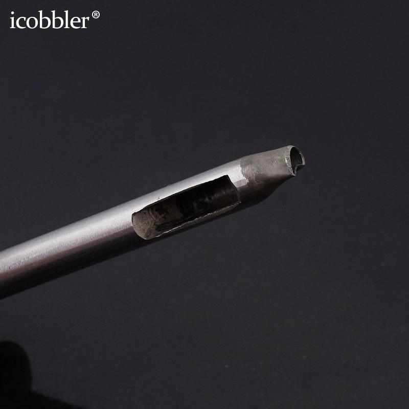 37 pièces ensemble de poinçon creux, acier fleur trou outil cuir artisanat bracelet de montre perforateur bricolage pour portefeuille ceinture décoration diverses formes 5mm - 6