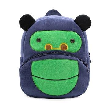 2020 Cartoon Kids Plush Backpacks Mini Kindergarten schoolbag Plush Animal Backpack Children School Bags Girls Boys Backpack - 06