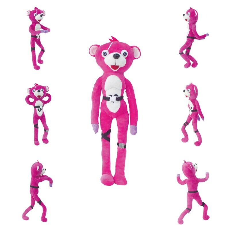 Cuddle Team Leader Pink Bear Plush Toys Dancing Plush Pink Bear Stuffed Animal Game Figure Doll Toys For Kids Gift 40cm 240cm oversize boxing bear doll eyebrow animal bear plush toys love hold bear doll teddy bear for children birthday gift toys
