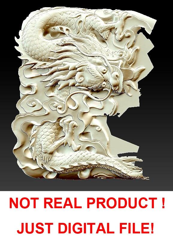 D model stl cnc computer carving relief sculpture dragon