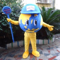 Dünya kostüm Dünya maskot yetişkin Küre kostüm