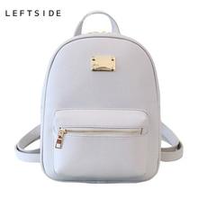 LeftSide 2017, Новая мода Back Pack Дамские туфли из PU искусственной кожи сумка пакеты крутые женские классические рюкзаки рюкзак для девочки-подростки сумки