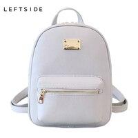 LEFTSIDE 2016 New Fashion Back Pack Women PU Leather Bag Packs Female Cool Classic Backpacks Bookbag