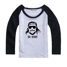Autumn Winter 85% Cotton Kids T Shirt Randy Macho Man Savage Long Sleeve Baby Boys Girls T-Shirt Children Pullovers Boys Clothes