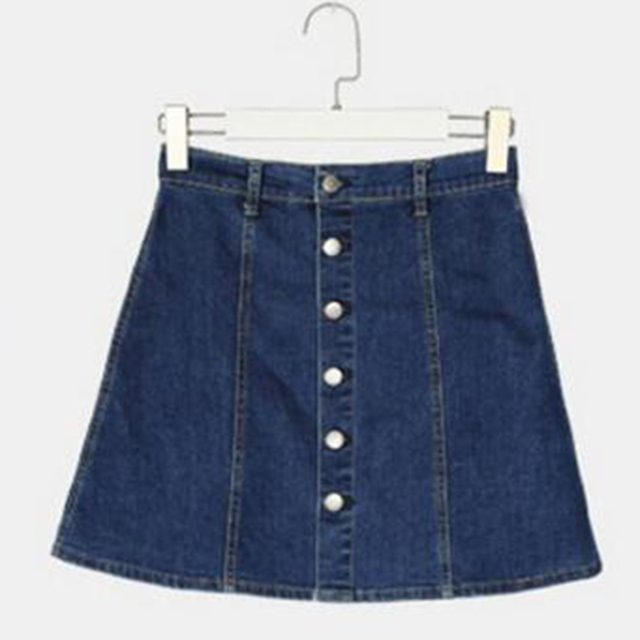 ec4fe7f01e4ca Trendy Summer Women Denim Skirt Mini Skirts High Waist Single Breasted  A-Line Skirt 2XL Plus Size Spring Jeans Button Skirts