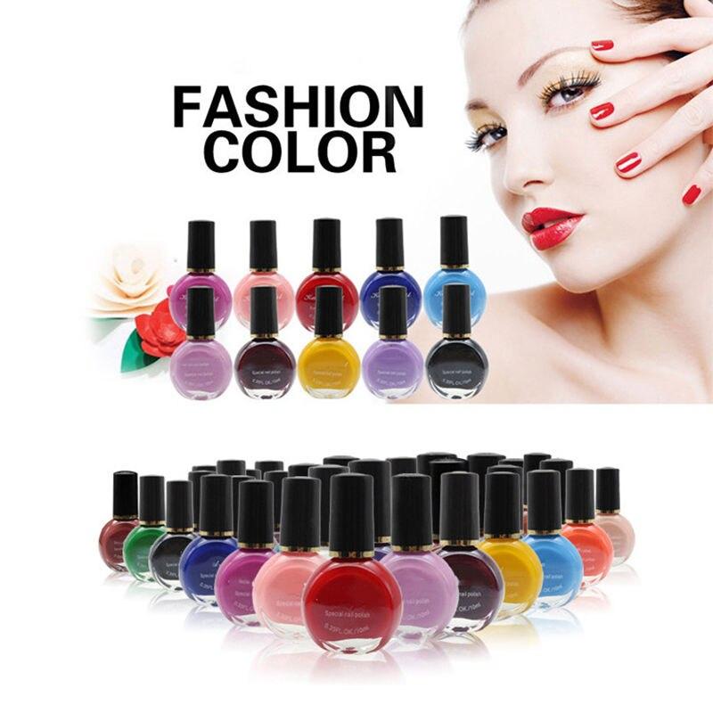 26 Cores Pro Impressão Stamping Nail Art Polonês Manicure Unha Polonês 10 ML Maquiagem
